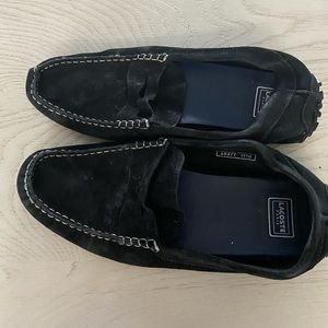MENS LACOSTE BLACK LOAFERS SIZE 9